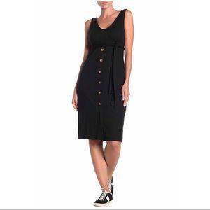 Velvet Torch Black Midi Dress NWT